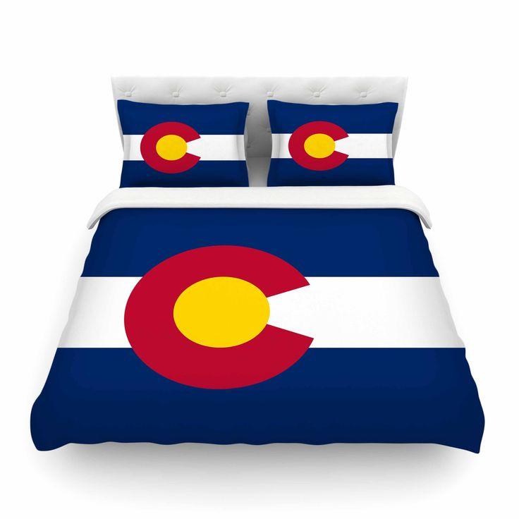"Bruce Stanfield ""Flag of Colorado II"" Blue Red Cotton Duvet Cover #colorado #flag @colorado from KESS InHouse"