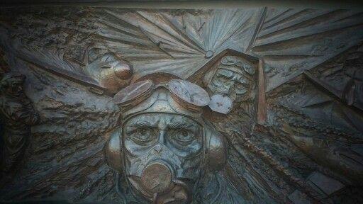 Battle of Britain plaque, London, UK