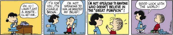 Peanuts by Charles Schulz | October 29, 2012 - Great Pumpkin