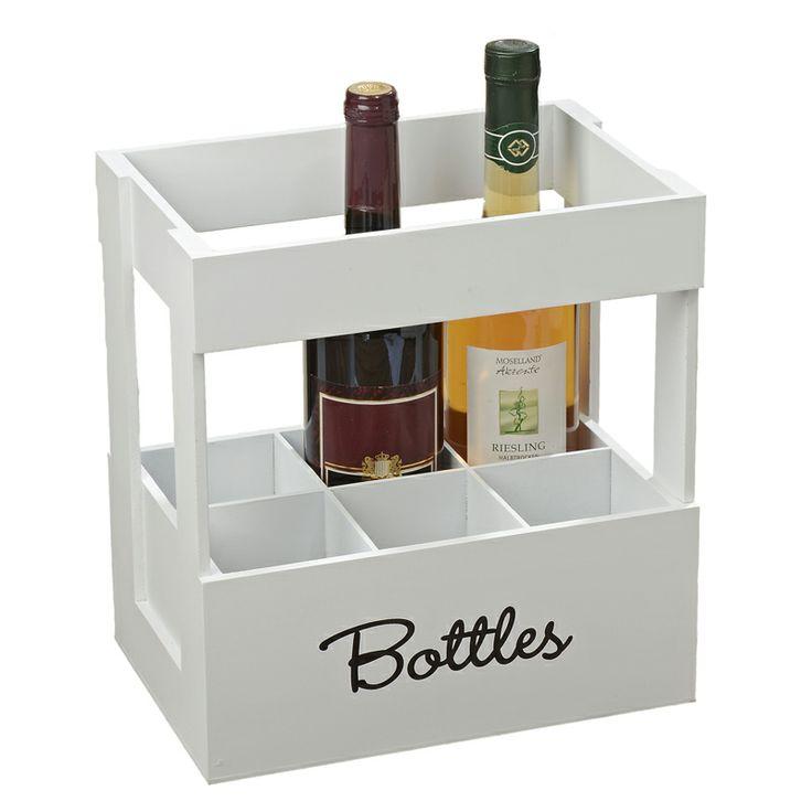 Dacă sunteţi un colecţionar de vinuri atunci nu trebuie să vă lipsească din recuzită suportul de sticle Lemgo. Suportul este construit din MDF de culoare albă, poate susţine şase sticle de vin iar înălţimea lui este de 28 cm. Cu siguranţă acest obiect îşi va găsi locul în orice bucătărie.