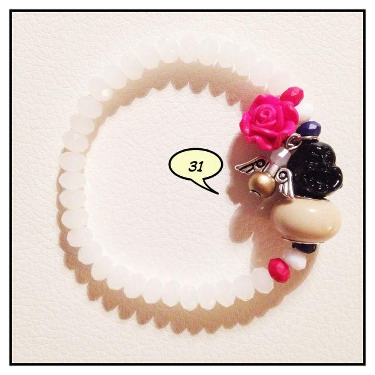 Zelf gemaakt armbandje met een Boeddha & een (B)engeltje     #boedha #boeddha #buddha #armband #bracelet