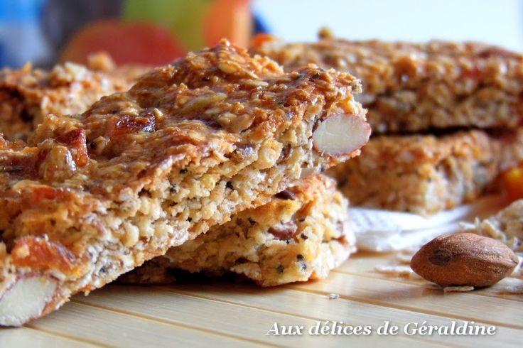 Aux délices de Géraldine: Barre de céréales maison aux abricots secs et amandes