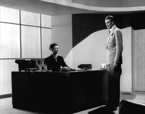 Gary Cooper with Ann Doran in The Fountainhead (King Vidor, 1949)