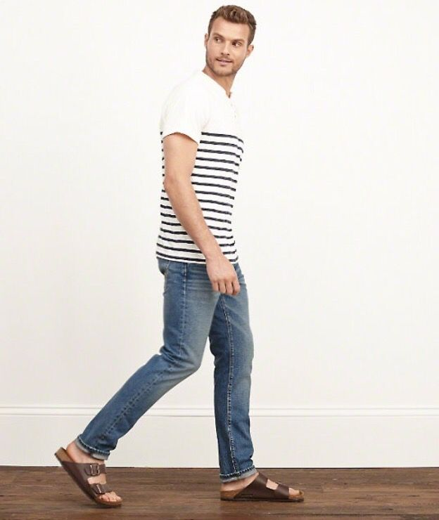 Spring outfit by A&F | Outfit (sandals-flip flop) FOR MEN ... Birkenstock Men Fashion
