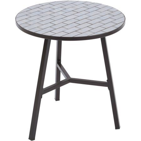Free Shipping. Buy Better Homes and Gardens Camrose Farmhouse Mosaic Tile Top Table at Walmart.com