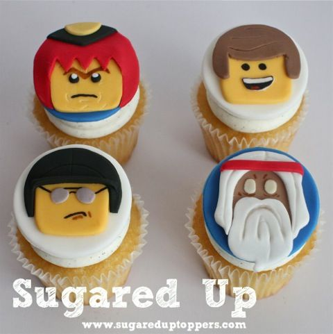 The Lego Movie Fondant Cupcake Toppers by Sugared Up