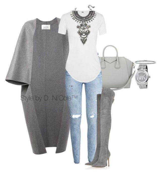 """""""Untitled #3011"""" by stylebydnicole ❤ liked on Polyvore featuring Valentino, Givenchy, H&M, Helmut Lang, Gianvito Rossi, DYLANLEX, Michael Kors and BERRICLE"""