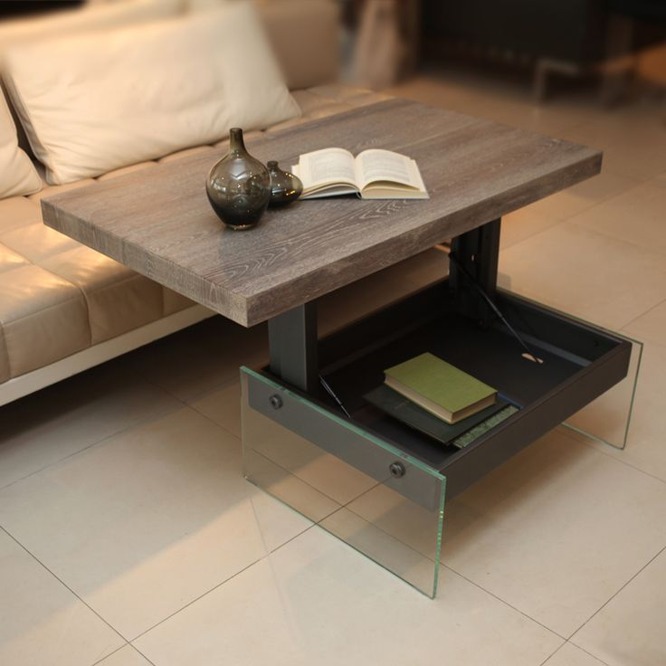 The multifunctional Bellagio coffee table is a smart complement to modern living. In a simple motion, the top lifts up - making it easy to use the table both in the lower and upper positions.