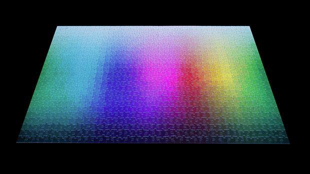 1.000 Colours Puzzle: Quebra Cabeça com 1.000 peças em CMYK