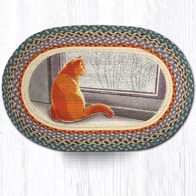 Cat Oval Braided Rug | Capitol Earth Rugs | Jute Area Rug