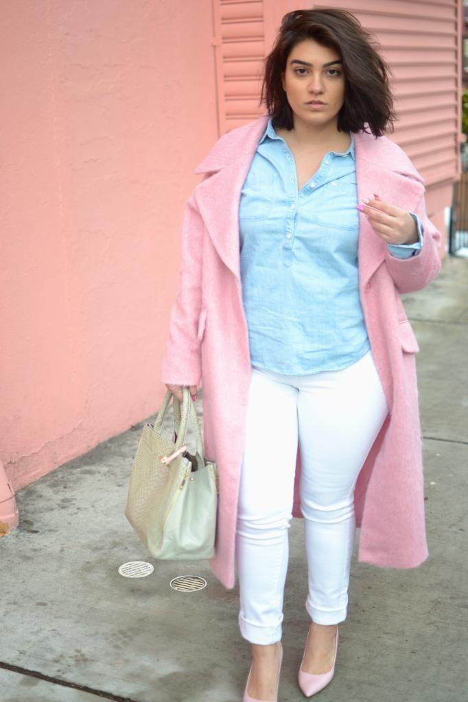 Nadia Aboulhosn White Skinny Jeans Plus Size Fashion