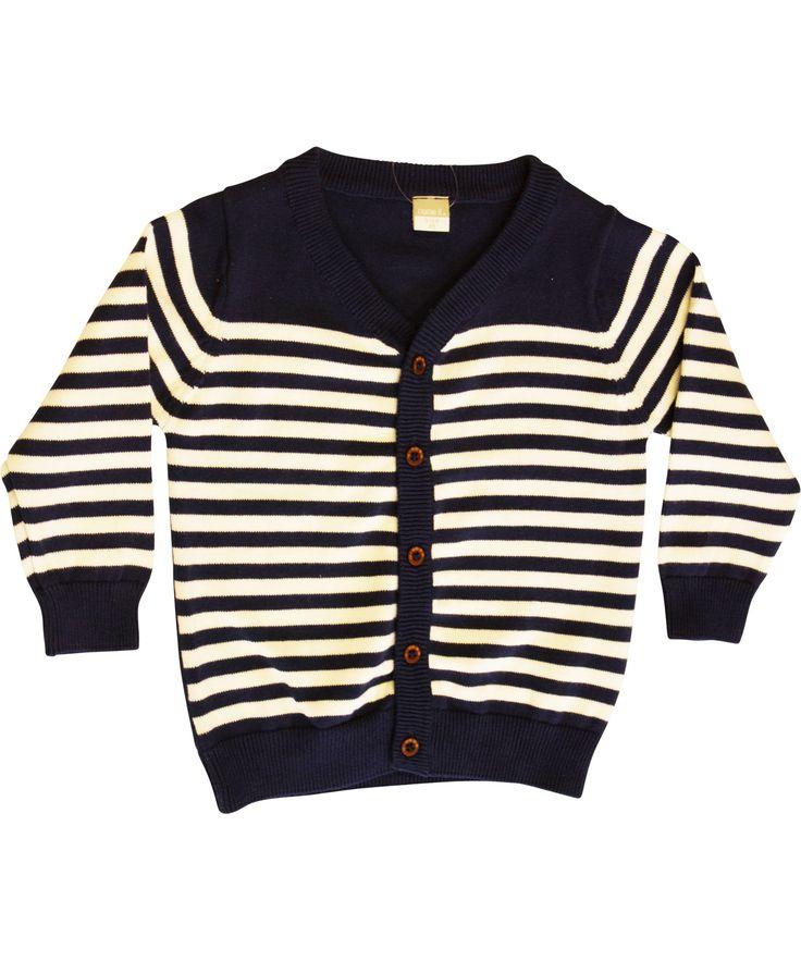 Name It basis gilet voor kleine jongens met crèmekleurige strepen. name-it.nl.emilea.be