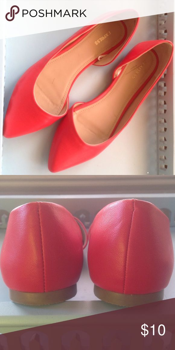 NWOT Express red flats Express flats.  Never worn---somehow bought the wrong size. Beautiful shoes! Express Shoes Flats & Loafers