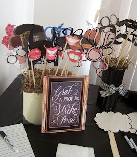 Lady's Makes and Bakes: A Mustache Bash Baby Shower!- Photo booth props