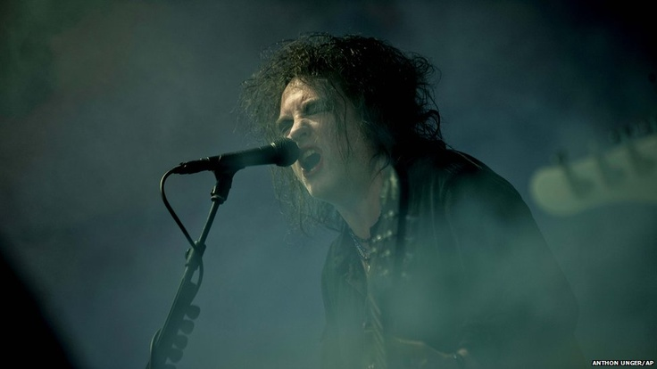 The Cure perform at the Roskilde Festival in Denmark