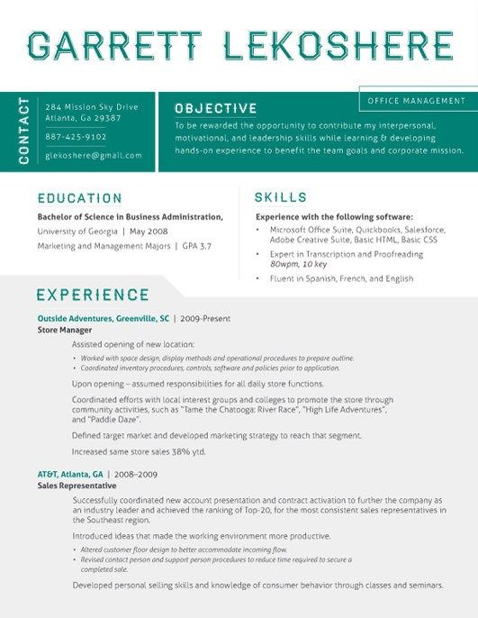 Amazing Resume Template 4