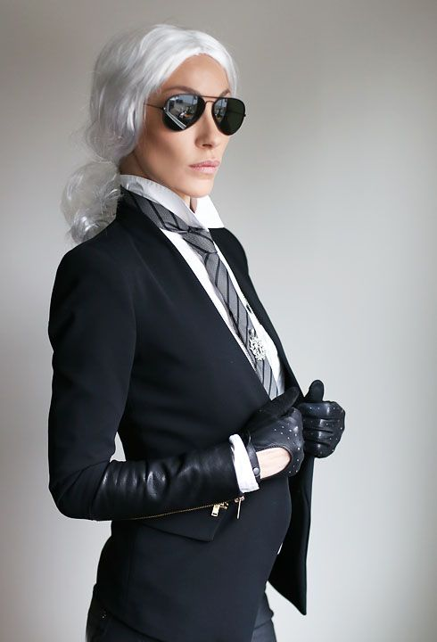 Karl Lagerfeld Halloween costume