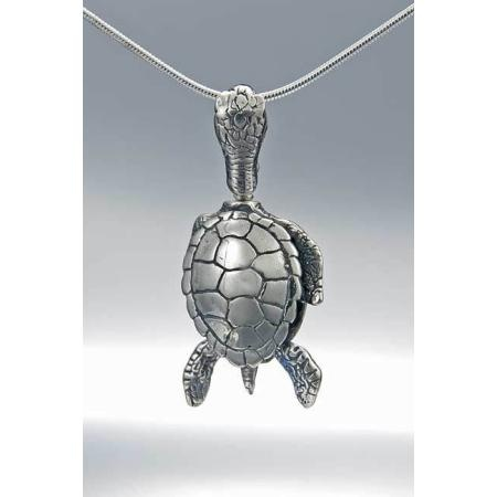 Sea Turtle Bell Necklace in sterling silver