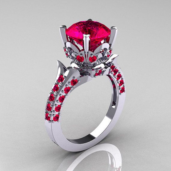 Classic French 14K White Gold 30 Carat Ruby by artmasters on Etsy, $1149.00
