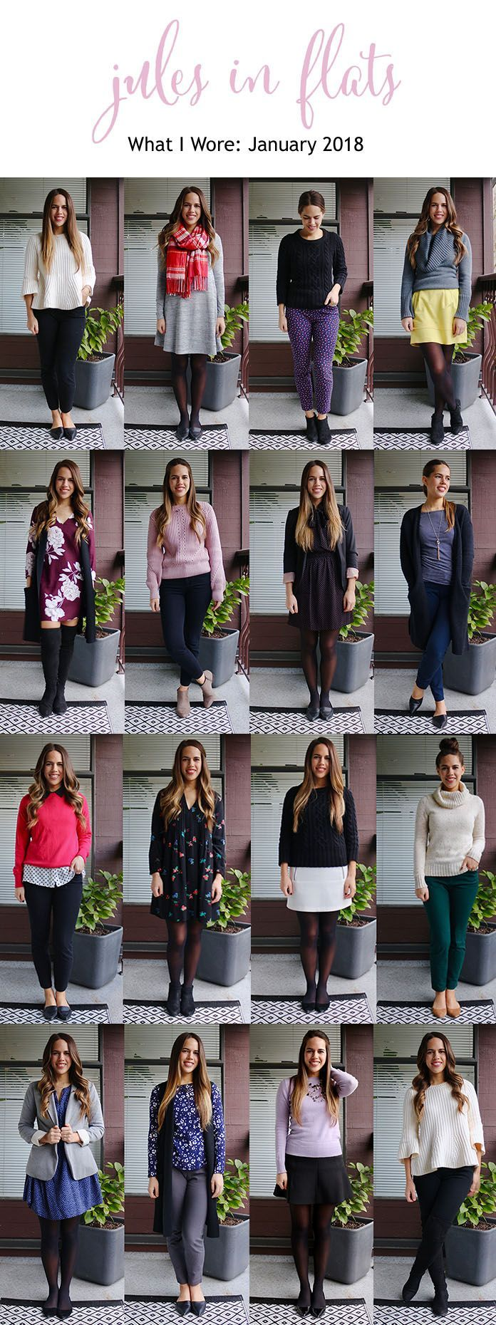 Jules in Flats - What I Wore in January