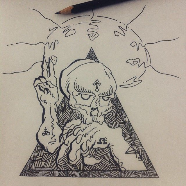 #drawonthebeach #sketch #pencil #ink #hail #mary #brutal #skull #pinterest #inspiration