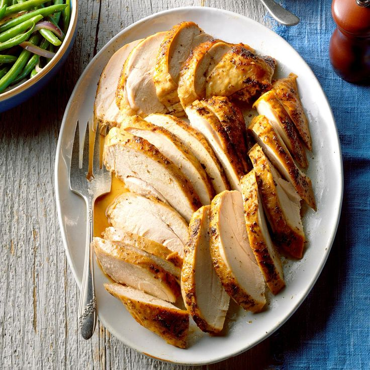 Herbed Turkey Breast Recipe -Like many of you, I always serve turkey for our family's Thanksgiving meal. But instead of roasting a whole bird, I opt for a turkey breast since most of us prefer white meat. The herb butter basting sauce keeps it so moist, and it's easy to carve. —Ruby Williams, Bogalusa, Louisiana
