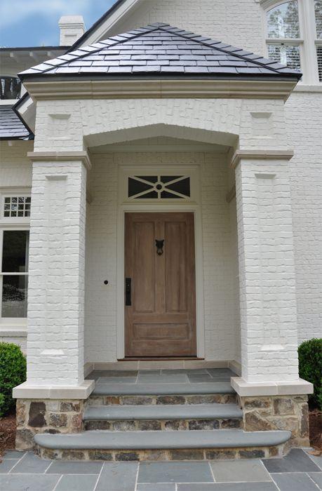 Slate painted brick flagstone neely design portfolio exterior detail styling pinterest - Exterior masonary paint decor ...