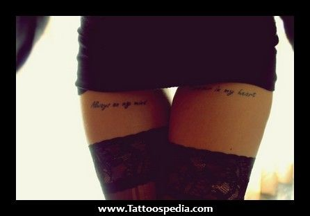 feminine thigh tattoos - Google Search