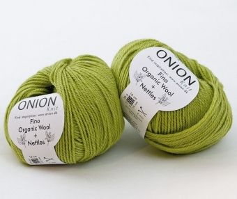 En tunnare kusin till det tjockare ull/nässle garnet från Onion...