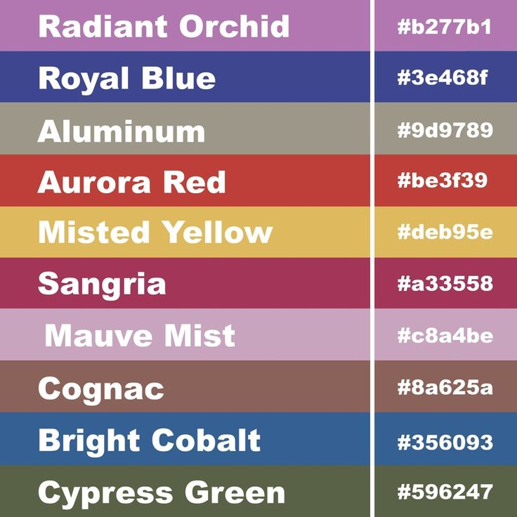 19 best images about color schemes and color palettes on Color combinations numbers