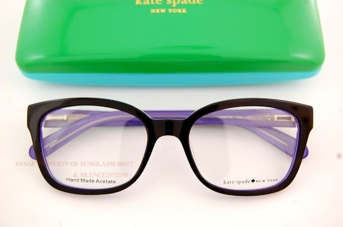 Brand New Kate Spade Eyeglass Frames JANETTA Color X31 BLACK/PURPLE #KateSpade
