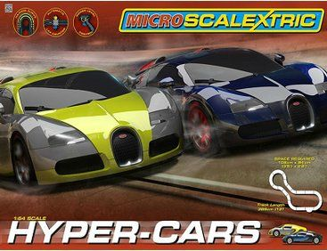 The Micro Scalextric Hyper Cars Set offers the Slot Car enthusiast a super Micro Scalextric set which includes cars, controllers and a good ...