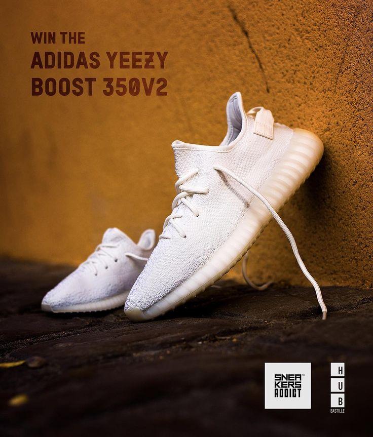 Giveaway Deux YEEZY 350 V2 Cream White à gagner @hubbastille et  @sneakersaddictcom sassocient pour vous faire gagner deux paires de adidas  Yeezy Boost 350 ...