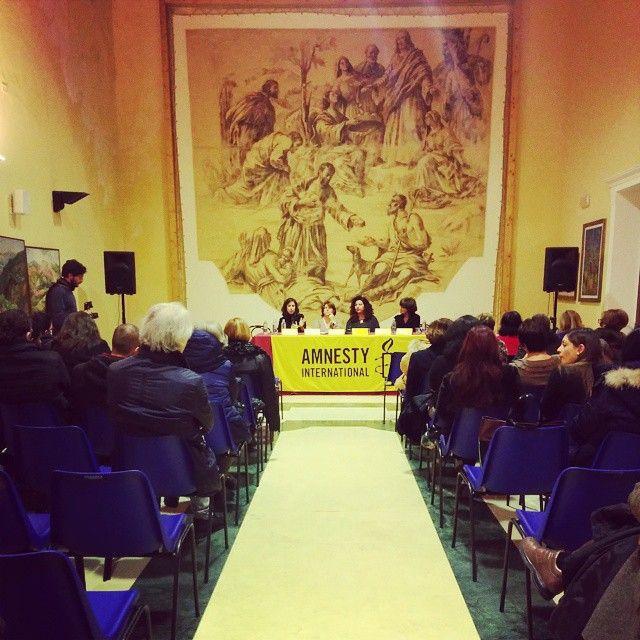 Forum di premiazione alla Difensora dei Diritti Umani Patrizia Moretti di Amnesty International ad Agrigento