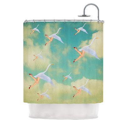 East Urban Home Swan by Natt Shower Curtain