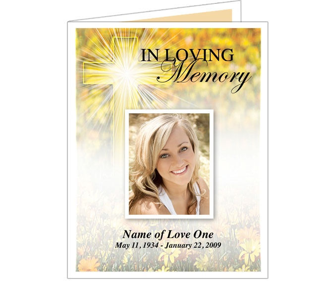 Funeral memorial cards or funeral bulletins hope for In memory cards templates