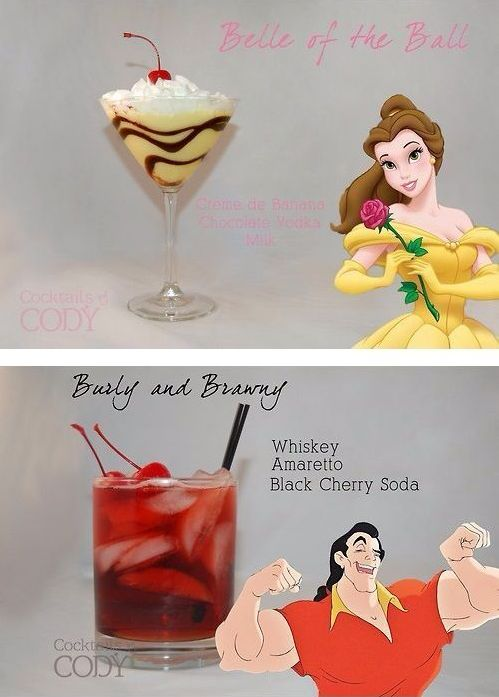 Disney Themed Cocktails // Beauty and the Beast