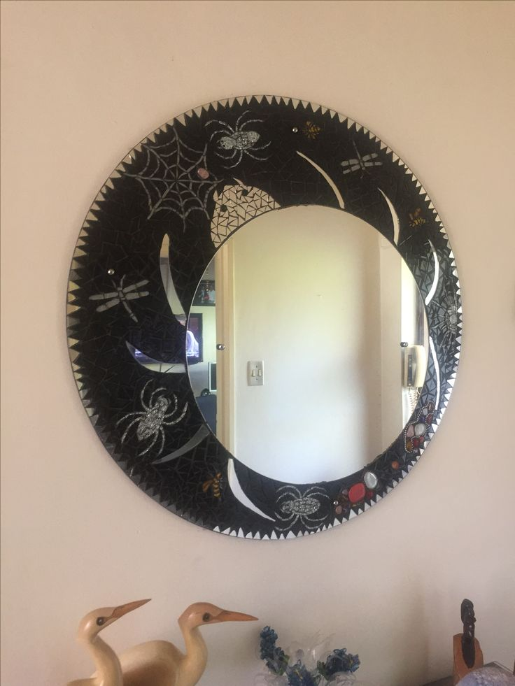 This was my first mosaic mirror