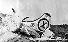 A U.S. Air Force B-29 Superfortress shot down by a Soviet MiG-15. B-29-44-61813-shotdown - Boeing B-29 Superfortress - Wikipedia, the free encyclopedia