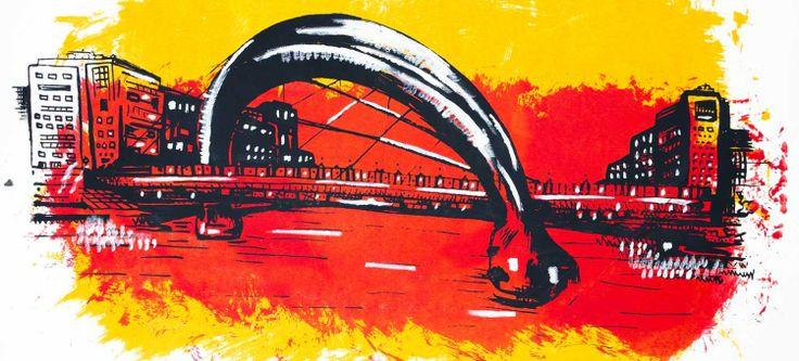 The Arc Bridge Glasgow screen print