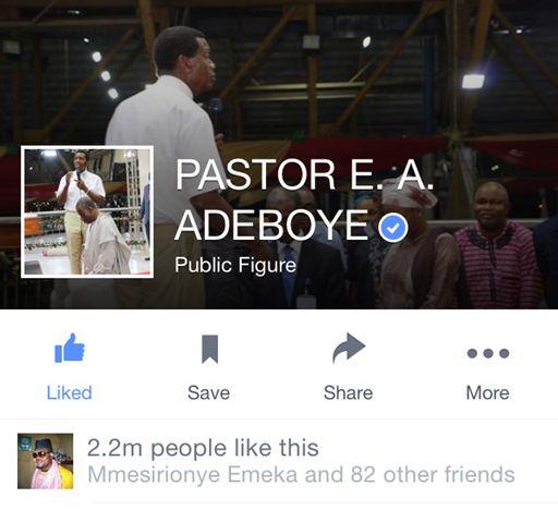 Pastor Adeboye changes profile picture to Jonathan...