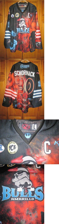 Hockey-Other 780: Authentic Amarillo Bulls Star Wars Hockey Jersey #30 Nahl Junior Texas -> BUY IT NOW ONLY: $279.99 on eBay!