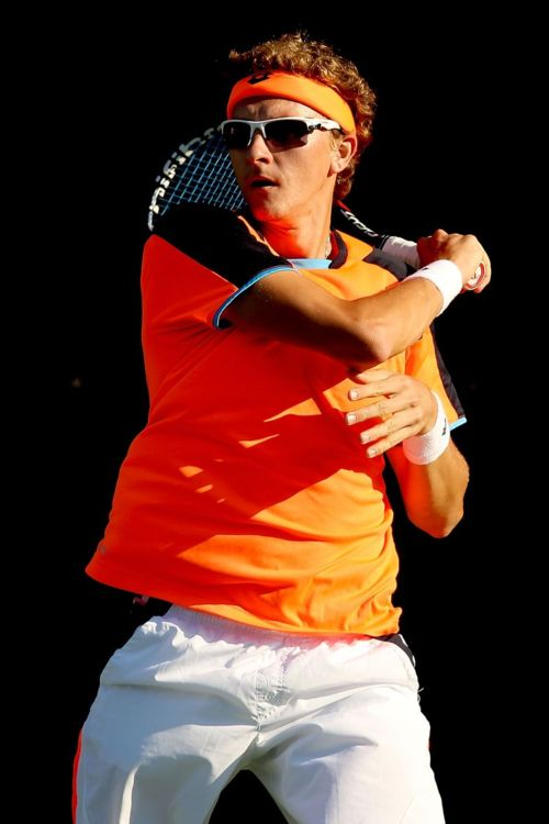 Smart man, Denis Istomin. Great article on why you need sunglasses on the tennis court. Image copyright Getty Images.