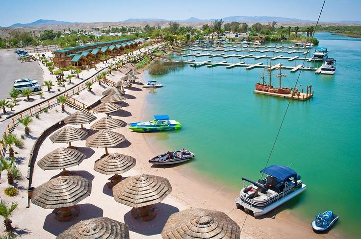 Zipline Ride At Pirate Cove Resort Located In Needles California