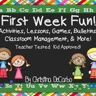 First Week Fun! Activities, Lessons, Classroom Management, Ideas, and More!!
