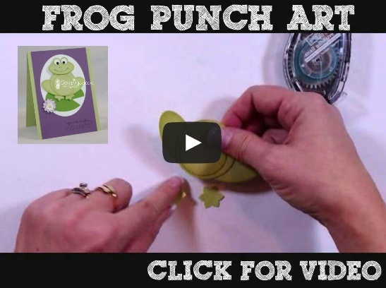 Stampin' Up punch art- Check out how to make an adorable frog card with Josee Smuck