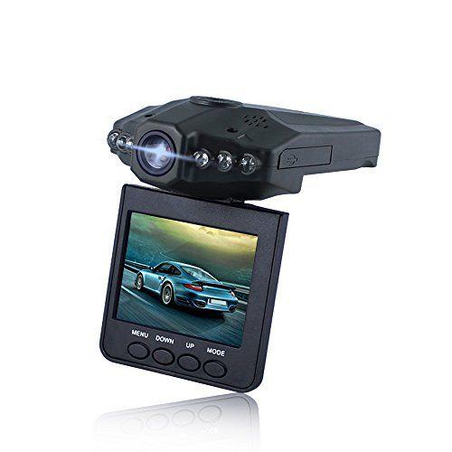 Lecmal Car Dashboard Camera 2.5 inches HD IR Dash Cam / 270 Degrees Rotatable Camera Video Recorder / Traffic Dashboard Camcorder Dash Camera for Car / Loop Recording Camera-No Card Included