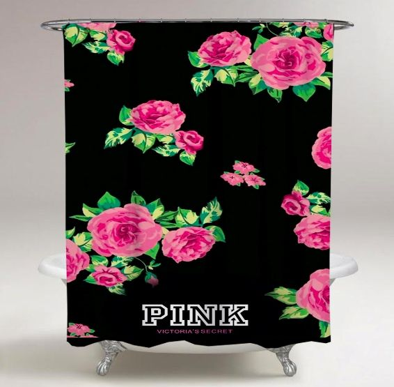 Rare Victoria Secret Pretty Pink Rose Flowers Print On Custom