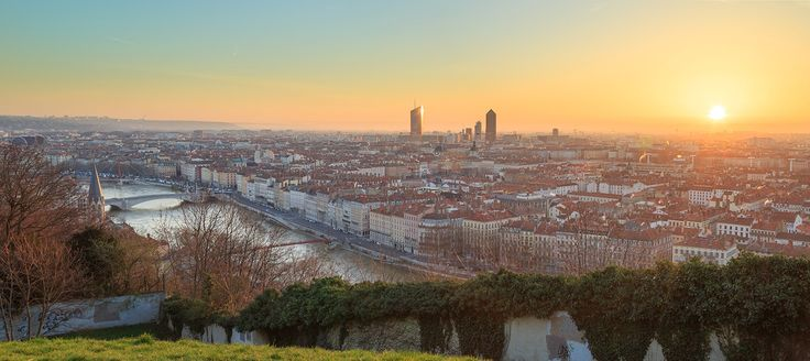 """A new beginning - A great and colorful spring sunrise over the lovely city of Lyon, France. I got out of bed very, very early, however was a joy to experience a new day in this way.  I invite you to follow me on <a href=""""https://www.instagram.com/sandervdw/"""">INSTAGRAM </a>"""