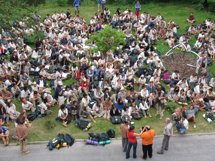 En el año 2007 nos visitaron los integrantes de la Ruta Quetzal